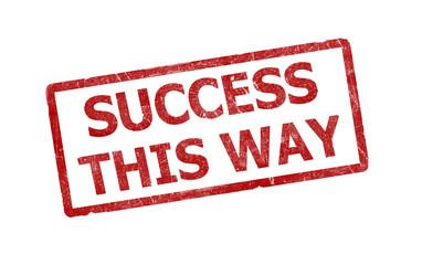 success this way stamp