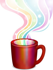 Rainbow Steam Cup