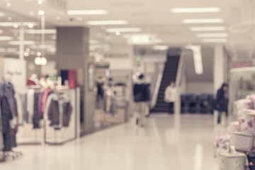 Abstract background of Department store interior , shallow depth of focus..