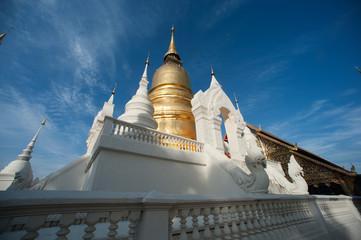 group of Pagoda in Wat Suan Dok temple in Chiang Mai city,Thailand.