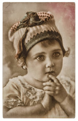Cute baby. Vintage picture