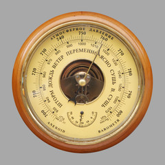 Old russian barometer