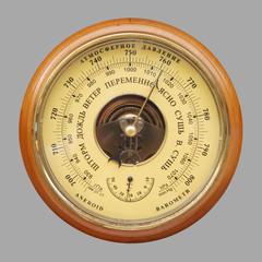 Old russian barometer