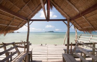 Hut on the sea.