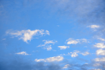 Clouds with blue sky in golden time