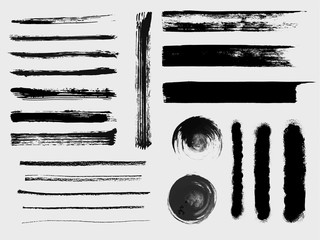 Set of grungy vector brushes