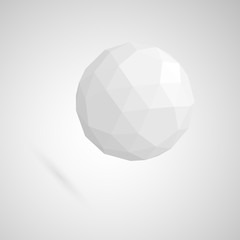 Abstract white sphere made of geometric shapes