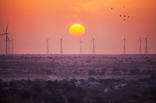Windmills power supply in India
