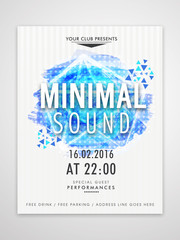 Template, Banner or Flyer for Music Party.
