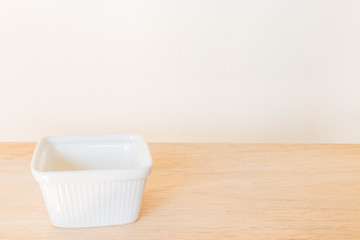 Empty Bowl on rustic wooden background