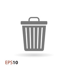 Trash bin icon for web and mobile
