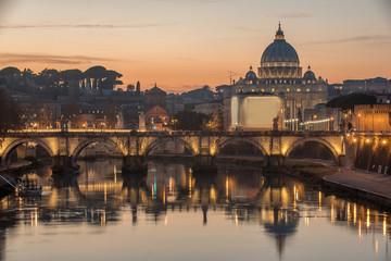 Wall Mural - Rome, Italy: St. Peter's Basilica, Saint Angelo Bridger