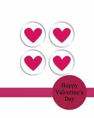 Valentine card Paper Cut Style