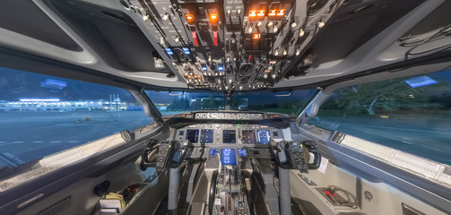 the cockpit inside