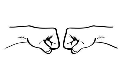 pugni/ immagine contro il bullismo