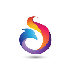 Eagle Flame Color Logo