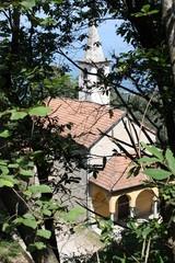 View to the Church of Levo, Lake Maggiore, Italy