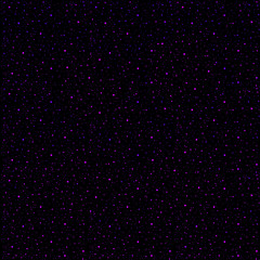 A galaxy of magenta stars in a black night sky