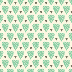 Hearts seamless pattern. Valentine's day. Holiday background.
