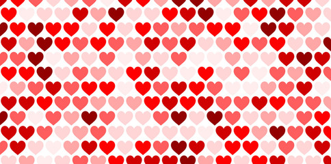 Fototapete - Valentine's background with hearts.