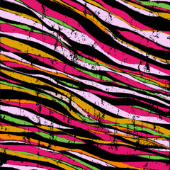 abstract background composition, with waves, paint strokes and s