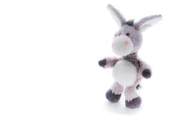 Obraz Donkey toy isolated on white - fototapety do salonu