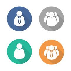 User flat design icon set
