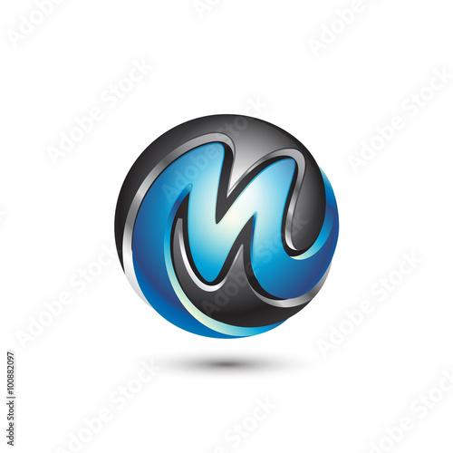 "M Logo 3d ""3D Sphere..."