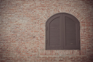 Pattern texture of wall and window background with space for design