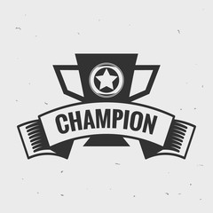 vintage  logo brand badge label concept champion,victory,winning