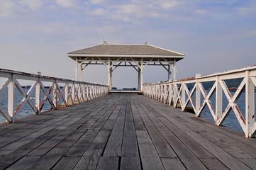 Atsadang bridge on Sichang island Chonburi Thailand