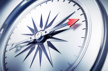 Silberner Kompass