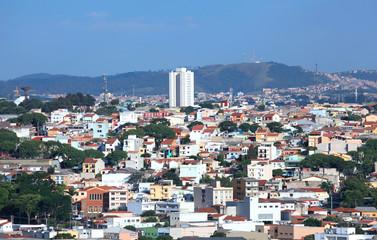 Aerial view of Sao Paulo suburbs