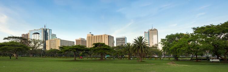 Nairobi downtown panorama