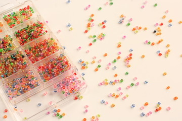 Spilled colorful beads