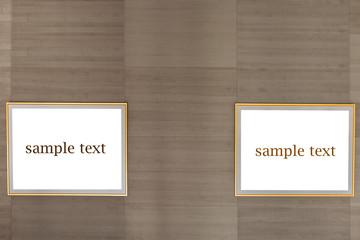 Hintergrund Holztextur mit Rahmen
