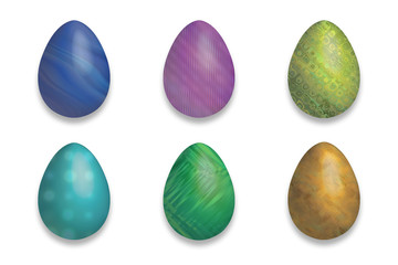 Easter eggs with fluo colour and decorated