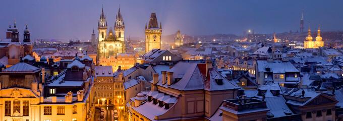 Foto op Aluminium Praag Prague in winter
