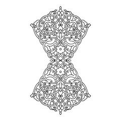 Hand drawing zentangle element.