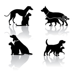 Vet Pet Icons Symbols Set EPS 8 vector