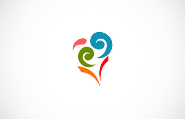 swirl love colorful logo