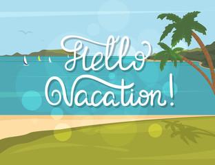 Hello vacation banner