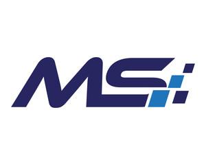 MS digital letter logo