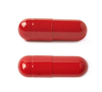 Red pill isolated
