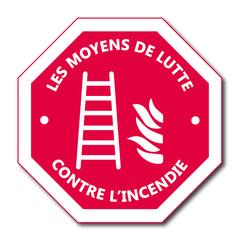 Logo échelle d'incendie.