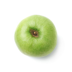 Ripe green apple isolated