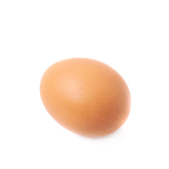 Single brown chicken egg isolated