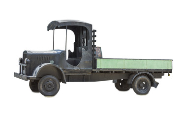 Cargo truck isolated on white isolated background with clipping