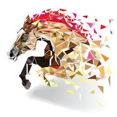 Horse in geometric pattern style. vector eps 10