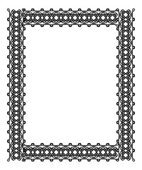 Black and white frame with celtic knots